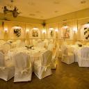 Opgedekte zaal voor bruiloft